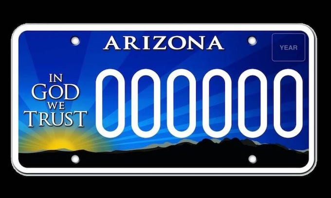 'In God We Trust' license plates targeted by Arizona Dems over 'hate group' funding claim