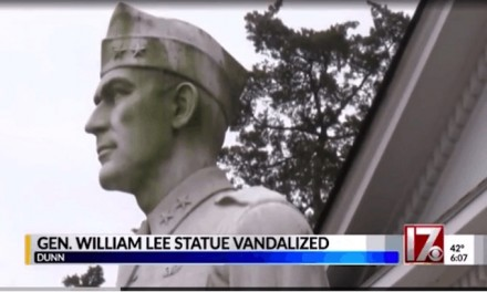 Ignorant vandals set fire to statue of World War II General Lee — not the Confederate leader