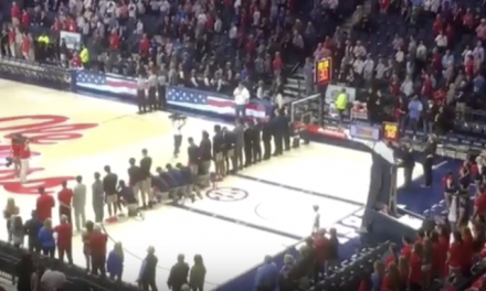 Ole Miss players fight the Confederacy by disrespecting Old Glory