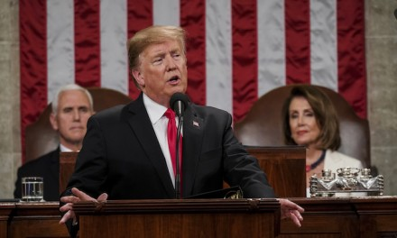 Donald Trump, in State of the Union address, calls on Democrats to help achieve 'American greatness'