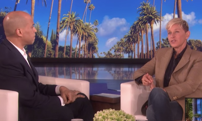 Ellen DeGeneres peddles idea that Trump may be 'losing his mind' during Cory Booker interview