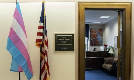 Ocasio-Cortez, Sanders, Pelosi hang transgender pride flags in Congress