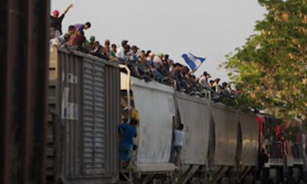 A Mexican train called 'The Beast' delivers 300-400 S. Americans to US border in one trip