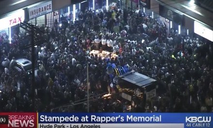 19 hospitalized after mourners stampede, attack police, at rapper Nipsey Hussle memorial