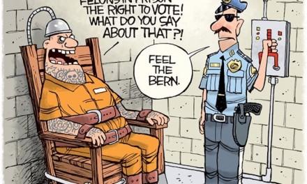 Prison guard's response to Bernie!