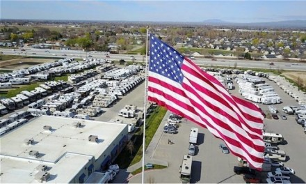 Camping World owner says he will go to jail before taking down the flag but he may not have to