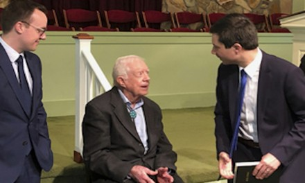 Jimmy Carter hosts Buttigieg, 'husband' for Sunday School