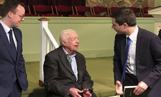 Jimmy Carter hosts Buttigieg, 'husband' for Sunday School