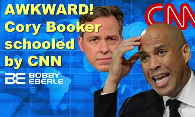 AWKWARD! Cory Booker's 'Medicare for All' claim gets instantly fact-checked live by CNN!