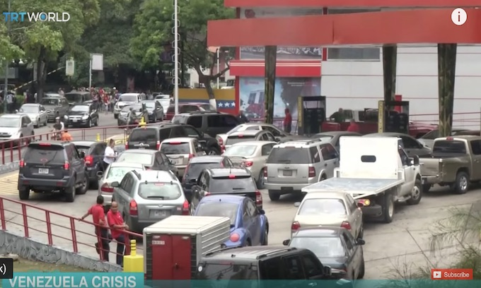 Venezuela's gas lines of 700– there's your socialism, folks