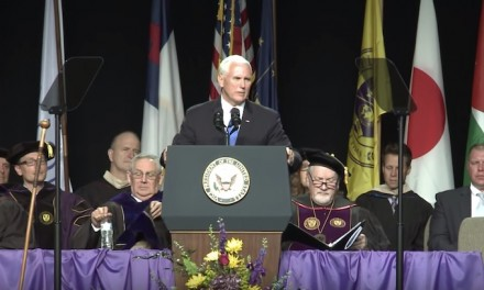 'Christian' college graduates walk out on VP Pence over lack of 'Christian ethic of love'