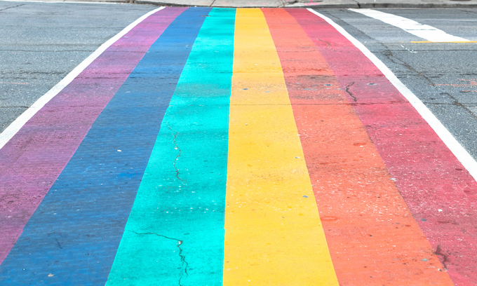 Chicago's rainbow-colored crosswalks