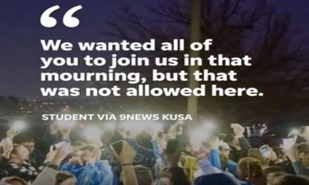 CO Democrats, gun control group politicize vigil; STEM students walk out