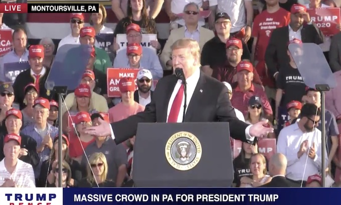Trump targets Joe Biden in Pennsylvania rally