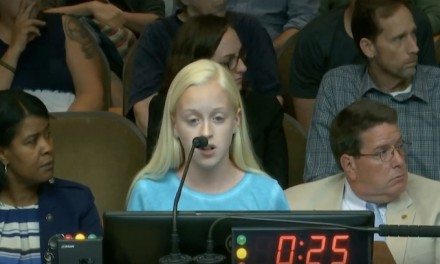 Brave young girl jeered during anti-abortion speech in N.C.
