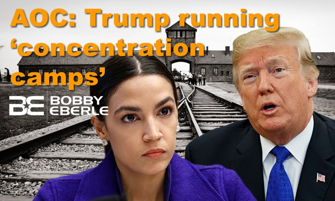 Trump says 'MILLIONS' to be deported; AOC claims Trump is running 'concentration camps'