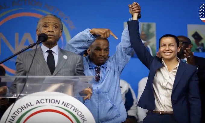 Queens DA hopeful Tiffany Caban embraces Central Park 5 in speech to Sharpton group