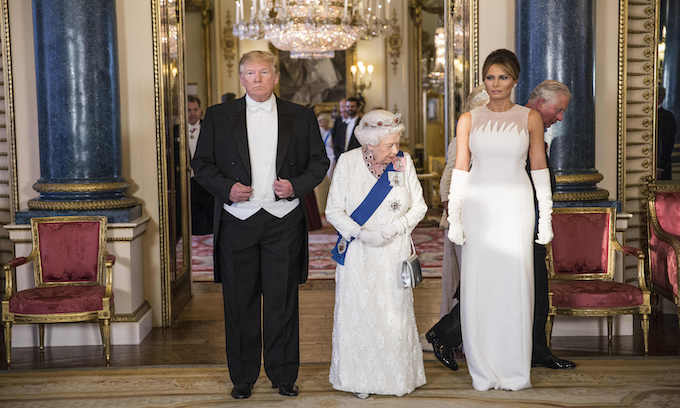 British monarchy greets Trump with all its pomp