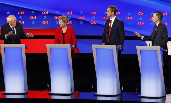 Sparks fly between radicals and progressives at second Democratic 2020 debate
