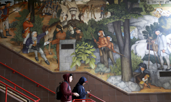 San Francisco to paint over historic mural of George Washington's life