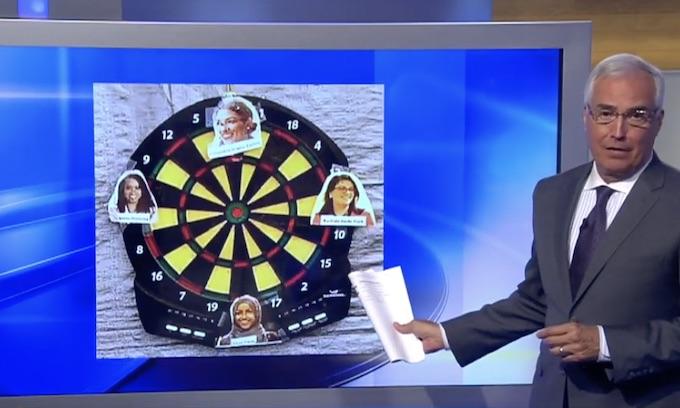 Squad dartboard sparks controversy at fair