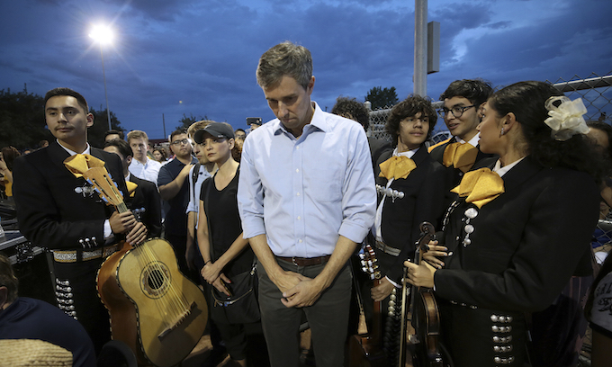 O'Rourke on Donald Trump: 'Jesus Christ, of course he's racist'