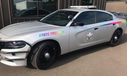 Oregon state troopers not too happy with LGBT patrol car