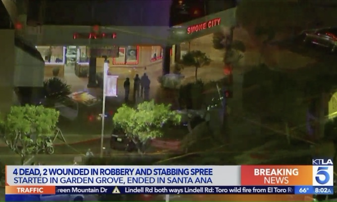 4 dead after mass stabbings in Garden Grove, Santa Ana
