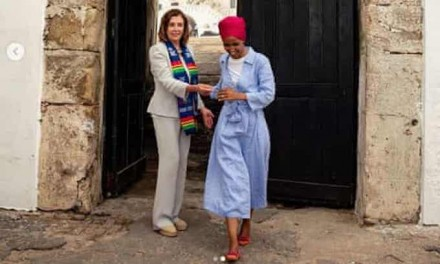 Ilhan Omar posts photos with Pelosi in Ghana on official congressional trip