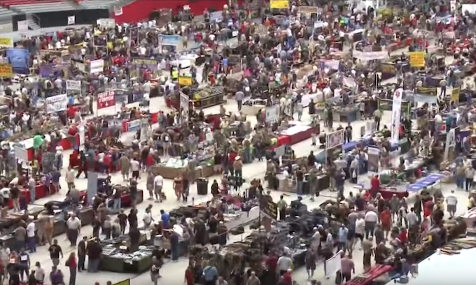 After nine months away, Del Mar gun show returns to cheers and protests