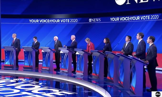 Biden faces down Warren and Democrat field in debate showdown