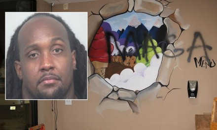 Hoax: Ex-NFL player painted slurs on walls, staged fake hate crime at his business, cops say