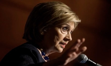 Hillary Clinton surfaces,  warns of 'crisis in democracy'; president is 'lying to Americans'