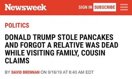 Newsweek ridiculed for 'Trump stole pancakes' story: 'Impeach!'