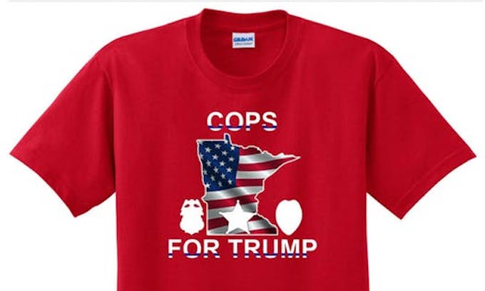 """Minneapolis police union selling """"Cops for Trump"""" T-shirts in wake of uniform ban"""