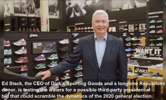 Dick's Sporting Goods: Destroy guns; run for president