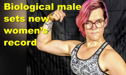 Biological male sets new women's cycling record! Seattle math classes are getting woke?