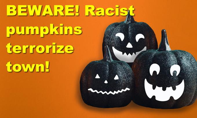 BEWARE! Racist pumpkins terrorize town! CNN guest compares Republicans to the Klan??