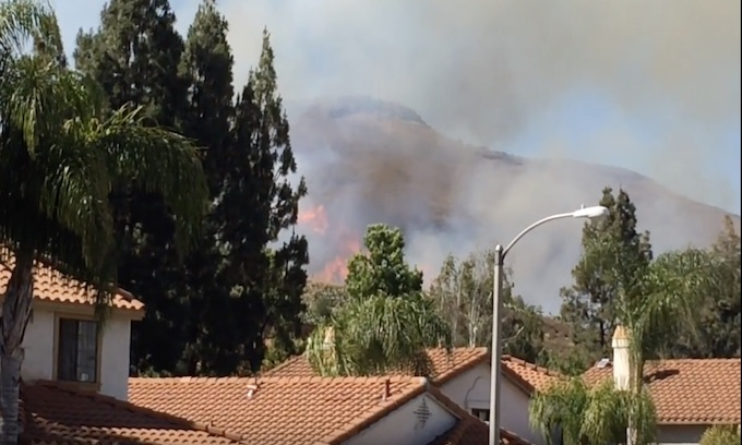 Wildfire threatens Reagan Presidential Library