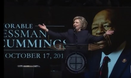 Hillary Clinton used Elijah Cummings' funeral as political opportunity