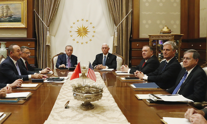 Pence gets cease fire to withdraw Kurdish fighters