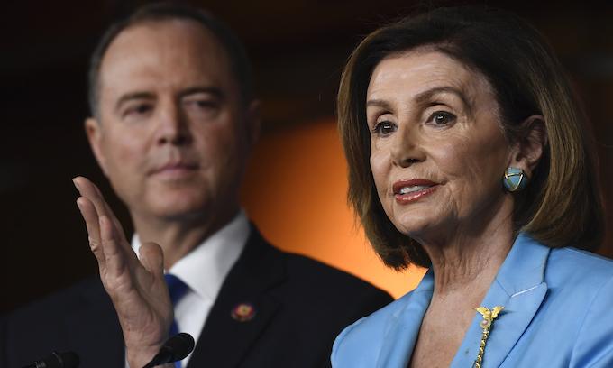 Trump flips tables on foes Nancy Pelosi, Adam Schiff