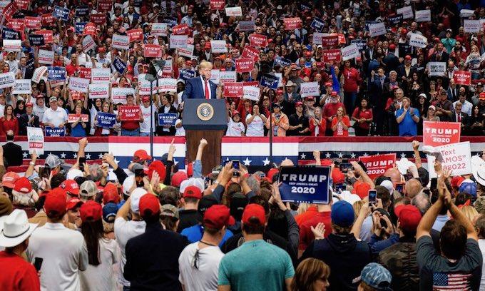 Trump rally draws big crowd to Dallas