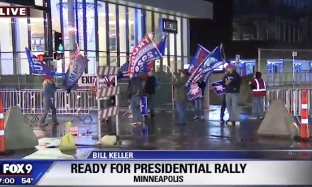 Trump rally tonight in the belly of the beast