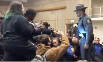 No freedom to speak at Binghamton as leftist mob shuts down Laffer speech