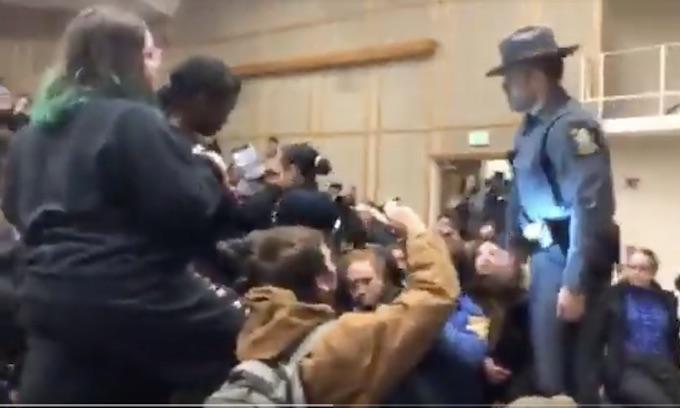 No freedom to speak at Binghamton as leftist mob shuts down Laffer speech