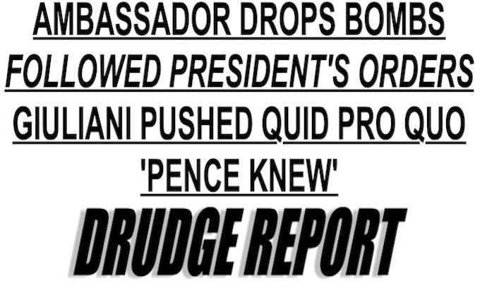 What's happened to Drudge?