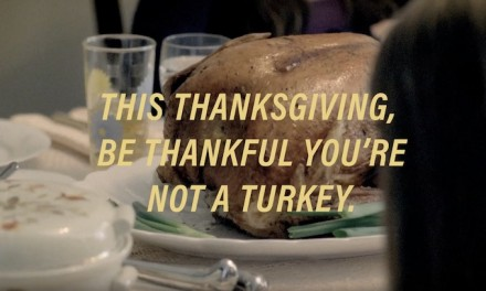 PETA activists protest eating turkey on Thanksgiving