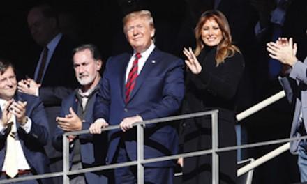 Trump cheered long and loud at Alabama football game