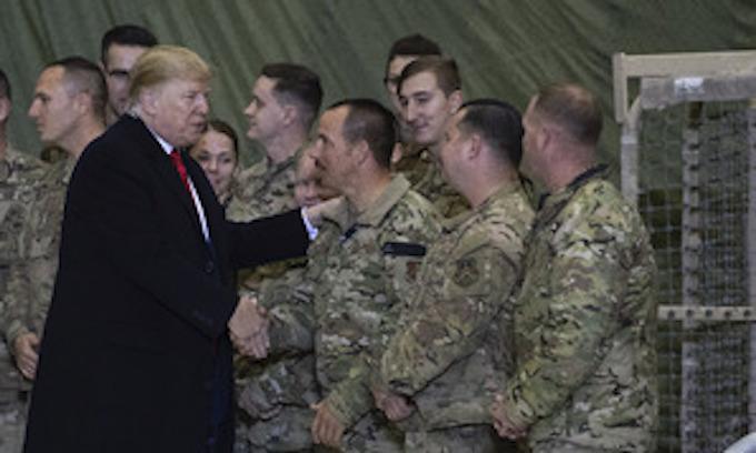 Trump visits troops in Afghanistan
